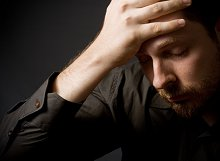 Counselling & Psychotherapy. Library Image: Depressed Man
